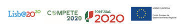 PO Lisboa + Compete2020 + Portugal2020 + EU (logotipo do FEDER)