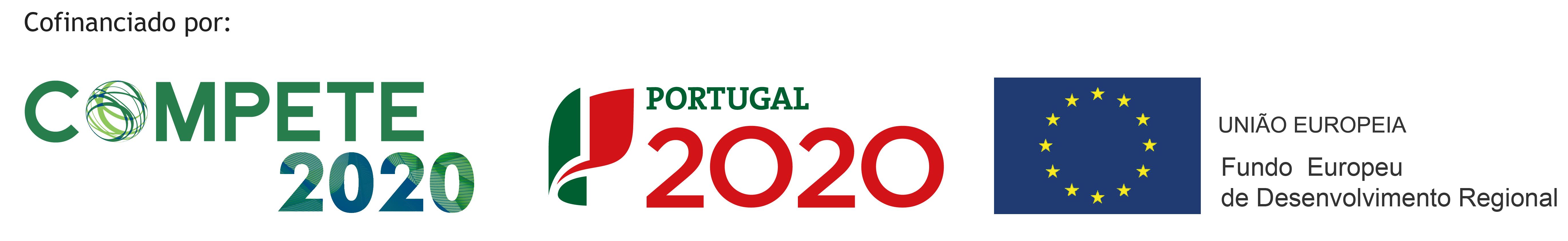 COMPETE 2020 + PT2020 + EU (Logotipo FEDER)