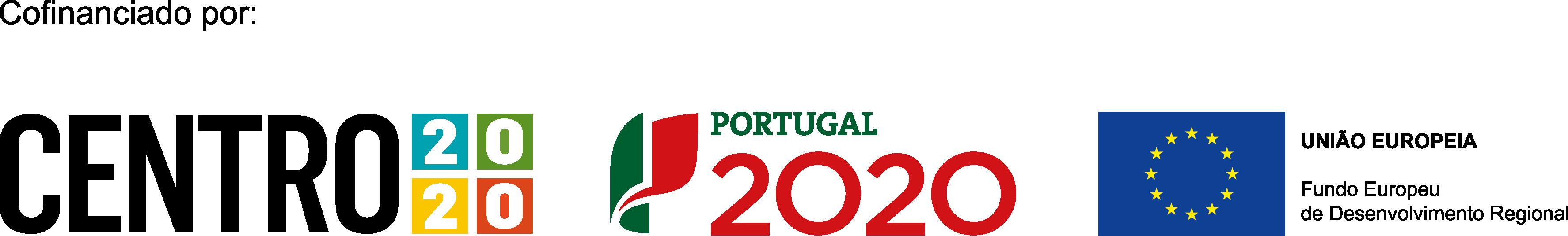 CENTRO 2020 + PT 2020 + EU (logotipo FEDER)