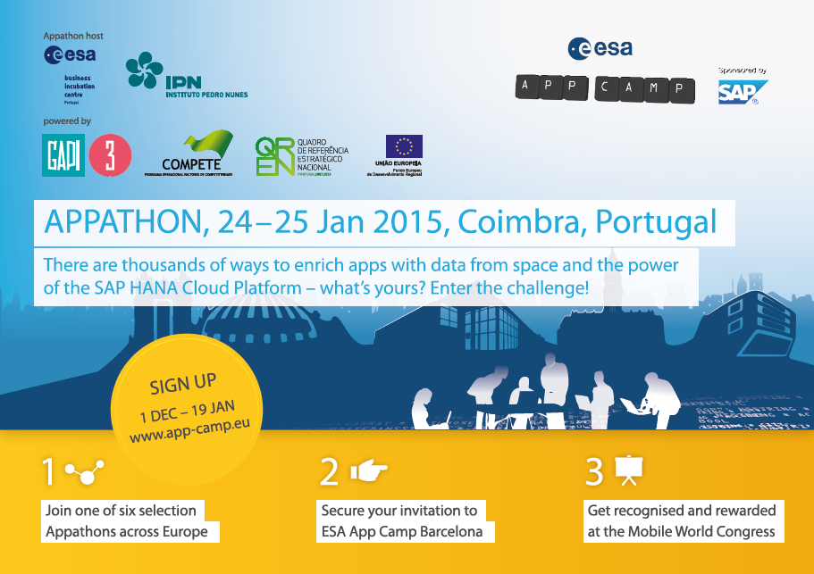 Appathon de seleção para o ESA App Camp em Barcelona.